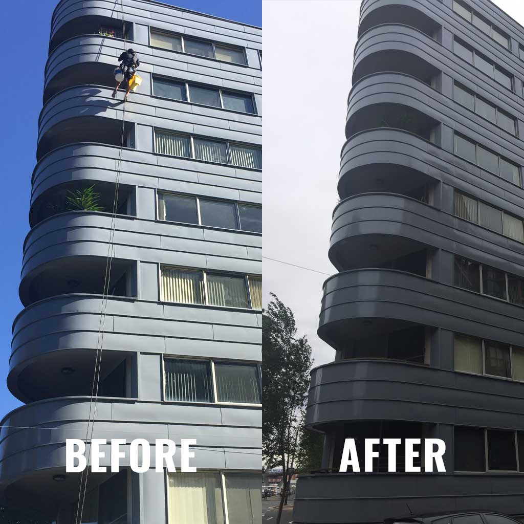 Commercial Exterior Painting - Before and After